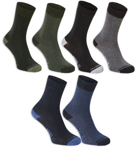 Men;s Craghoppers NosiLife Sock Twin Pack in Grey , Blue and Green