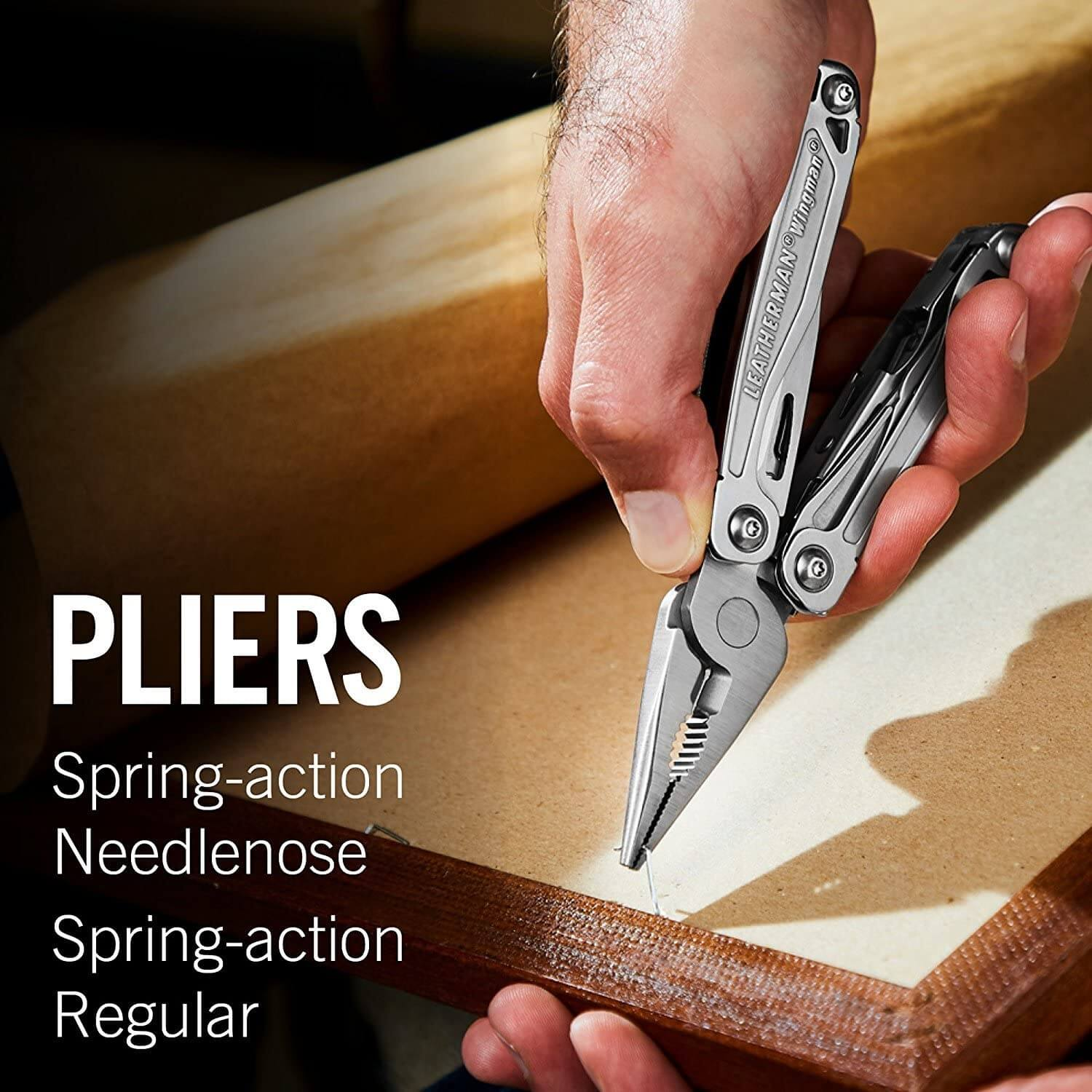 Pliers, spring action, needle nose