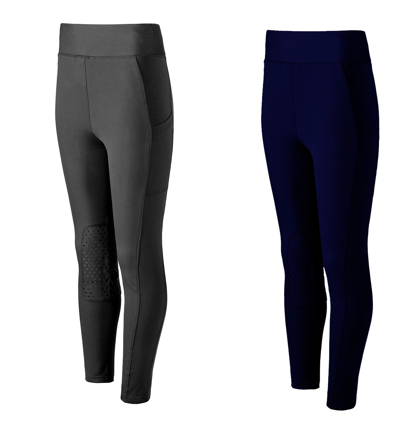 Sporting Hares Victorious Thermal Riding Leggings | Black and navy