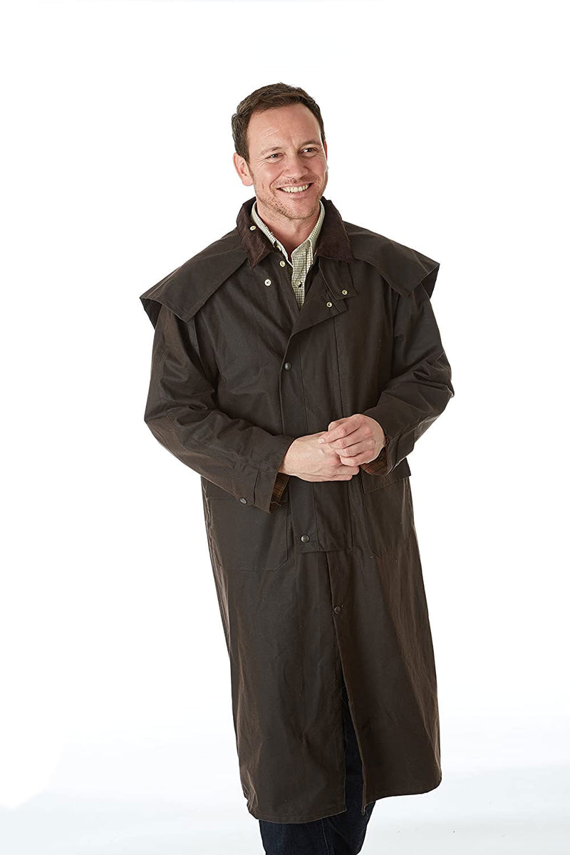 Gore Brown waxed full length waterproof coat