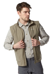 zipped open Craghoppers Varese Multi-pocket Travel Waistcoat