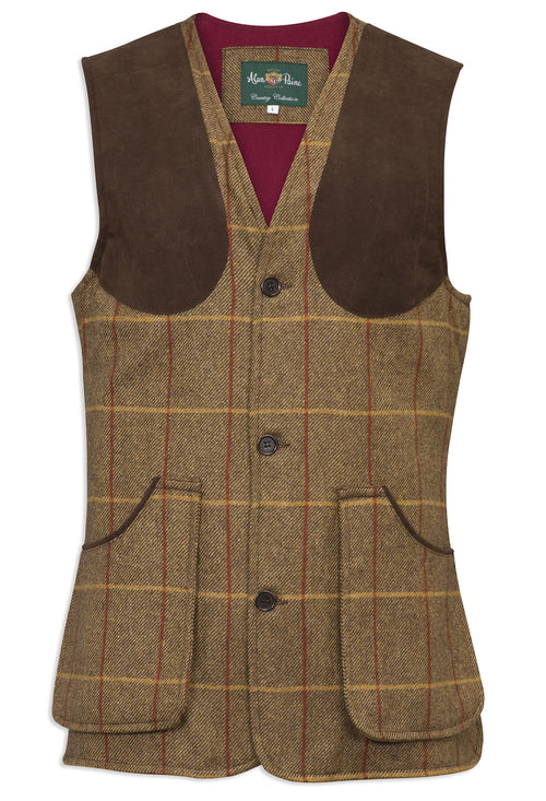 Alan Paine Surrey Shooting Waistcoat | Chestnut