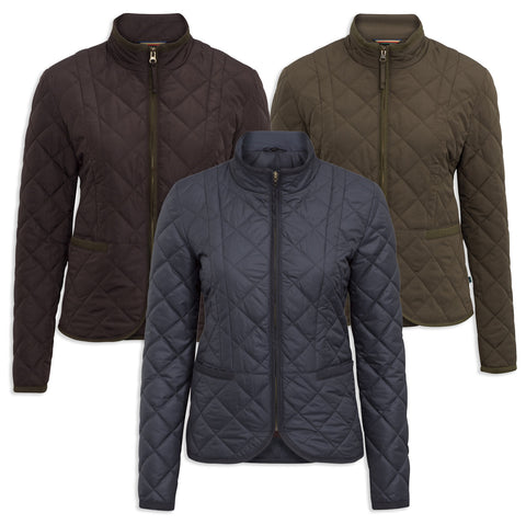 Alan Paine Surrey Quilted Jacket | Olive, Navy, Peat