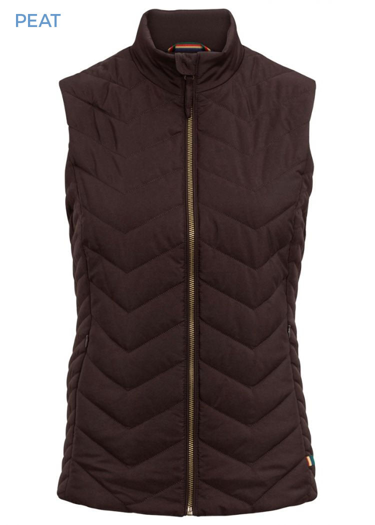 Alan Paine Ladies Surrey Quilted Gilet | Peat