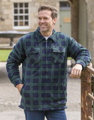 man wearing hoggs of fife Sutherland Black Watch Tartan Shacket (Shirt/Jacket)