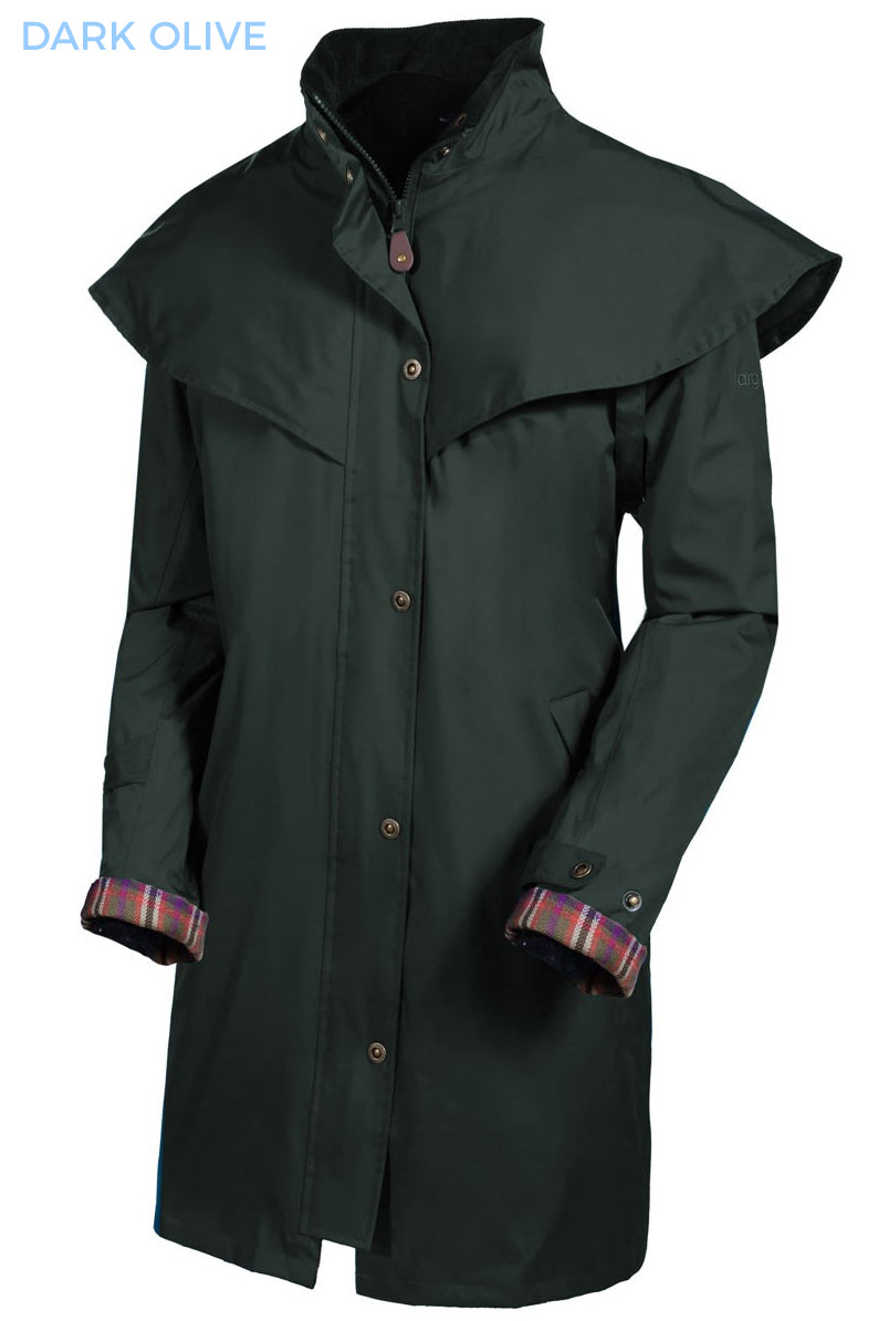 olive Outrider II 3/4 Length Rain Coat by Target Dry.