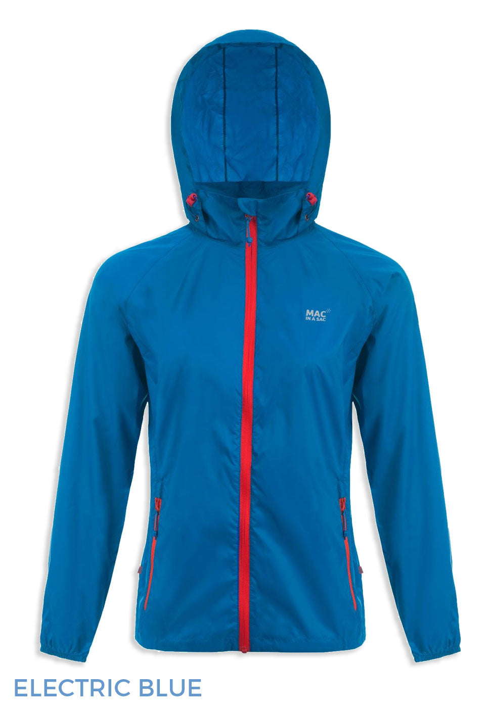 hooded electric blue Packaway Waterproof Jacket by Lighthouse