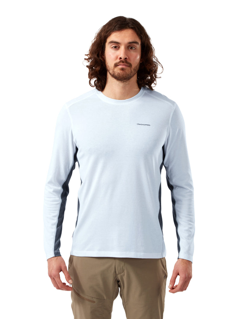 Optic white Craghoppers NosiLife Talen Long Sleeve T-Shirt