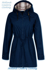 navy Jack Murphy Tanya Waterproof Parka Coat. Three Colours