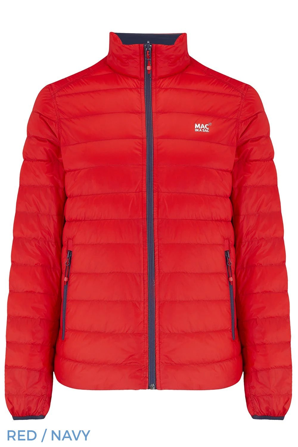 Red Navy Mac In A Sac Packable Polar Down Jacket