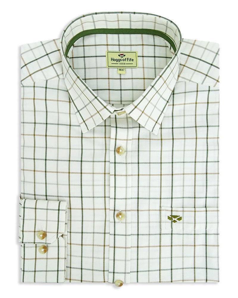 Brown and Green Large tattersall check shirt