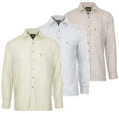 Champion Tattersall Check Shirt in Green/Brown, Blue and Red