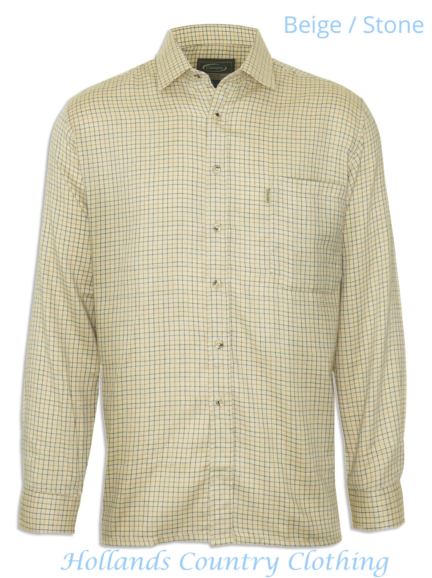 stone beige Champion Cartmel Cotton Rich Shirt (code 3099)
