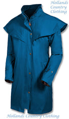 teal Outrider II 3/4 Length Rain Coat by Target Dry.