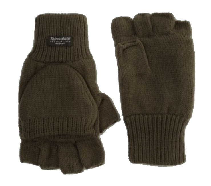Thinsulate Shooter Mitts in Olive