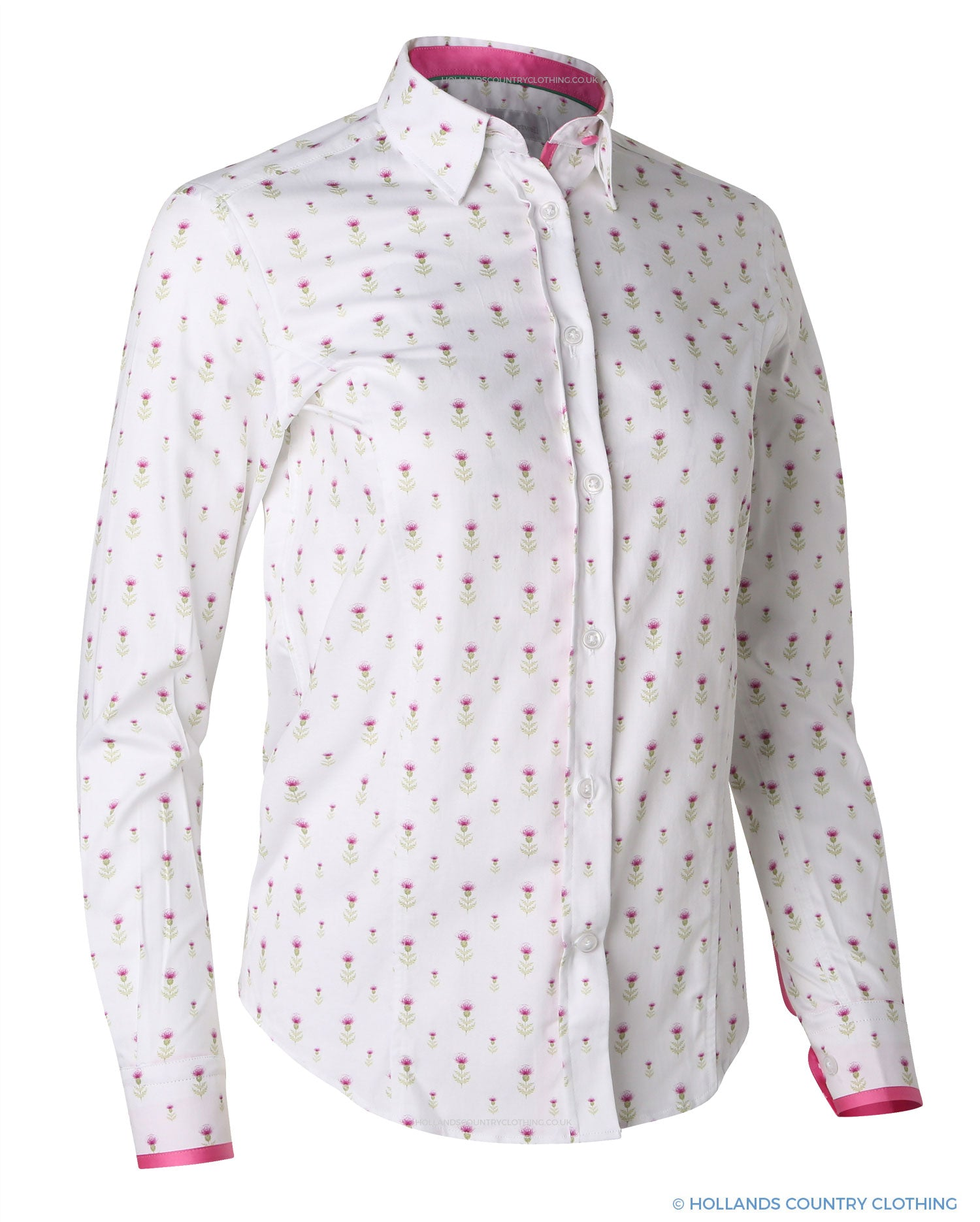 Hartwell Layla Cotton Shirt Thistle