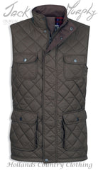 Jack Murphy Timothy Diamond Quilted bodywarmer Gilet