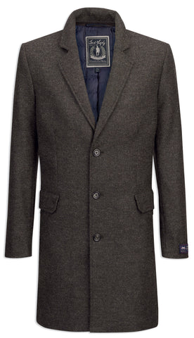 Jack Murphy Toby Mid Length Coat in country green moon wool