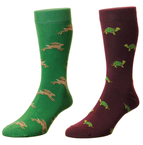 HJ Hall Fable Socks | Tortoise and The Hare