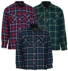Champion Totnes winter tartan padded quilted work shirt red blue and green