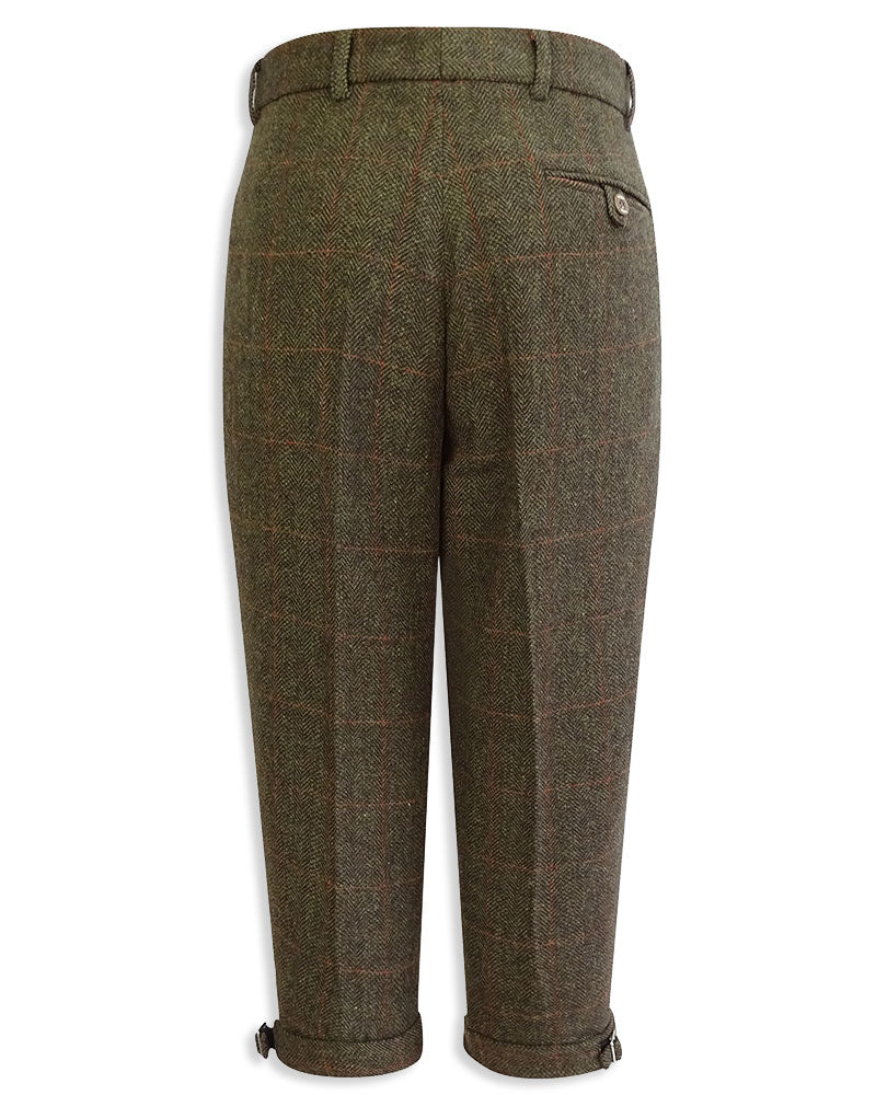 Rear View Hoggs Harewood Tweed shooting Breeks