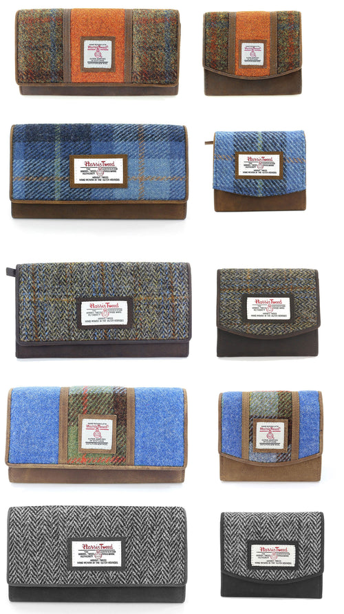 British Bag Co. Harris Tweed Purse five coours