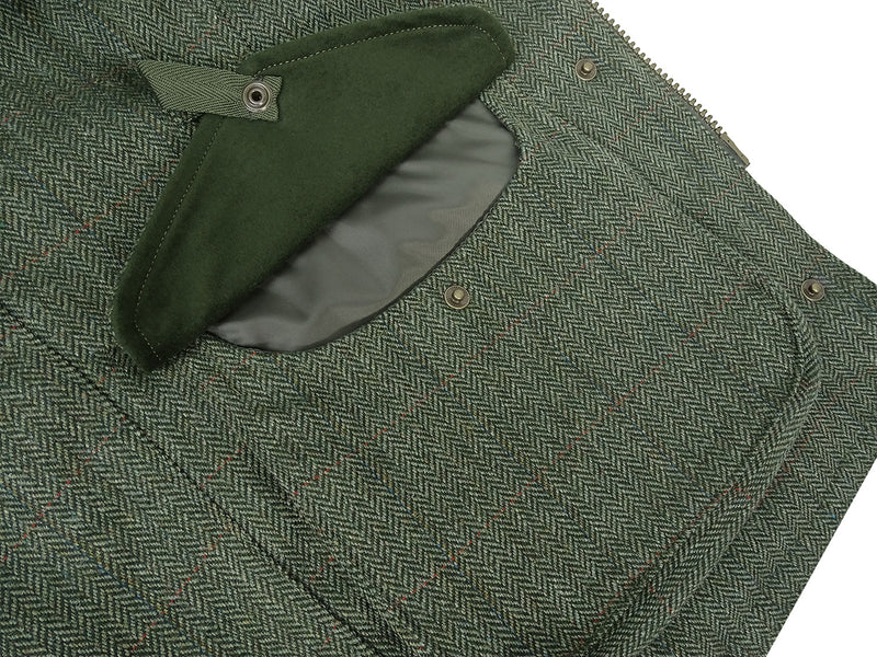 Cartridge pocket tweed shooting waistcoat