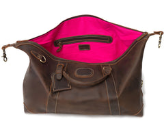 The Alexander Ultra Soft Leather Holdall by Val Blanco  pinklining