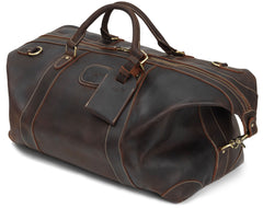 Val Blanco Alexander Weekend Bag | Luxury Soft Leather brown