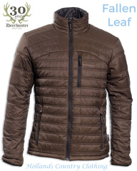 Verdun Quilted thinsulated jacket in fallen leaf - brown