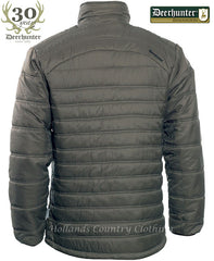 back view olive colour Deerhunter Quilt Jacket 5809