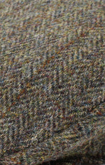 tweed swatch Colour; Green Herringbone with check