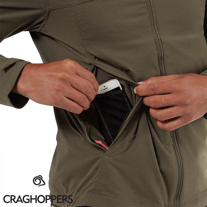 Secure phone pocket Vitor NosiLife Travel Hoodie by Craghoppers #