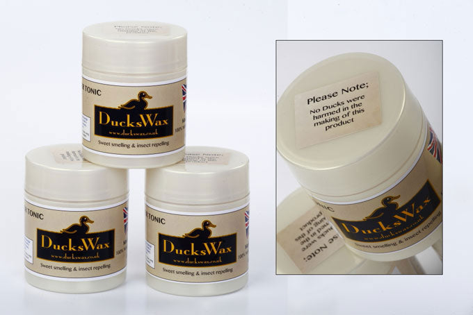 pots of DucksWax Leather Protection & Waterproofing