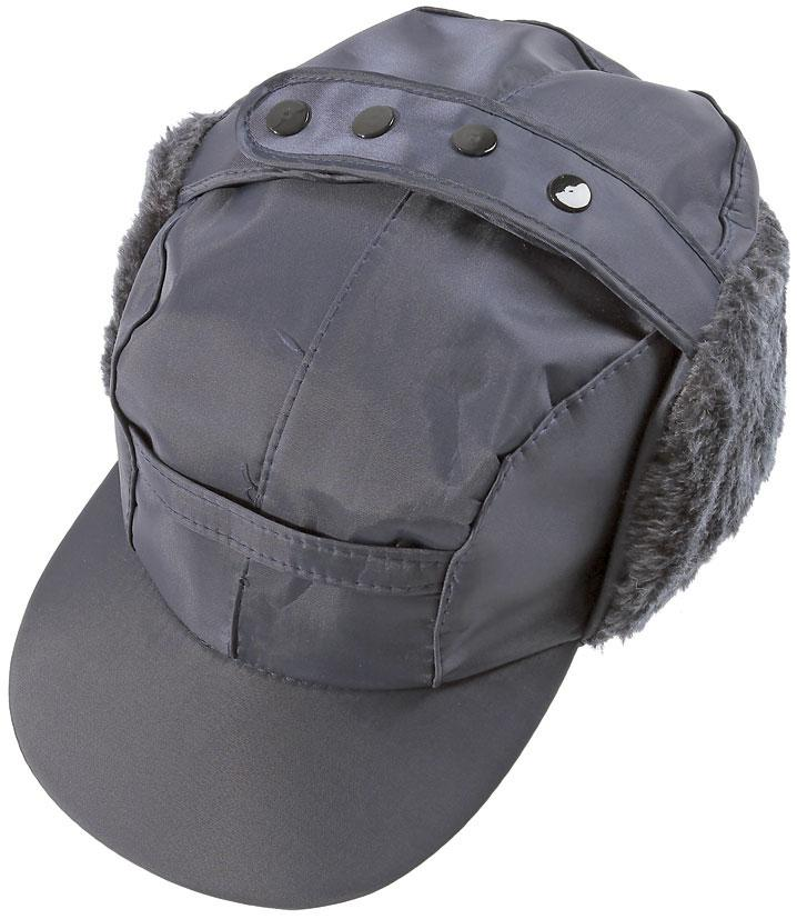 Navy Peaked Tractor Cap with Ear Warmers