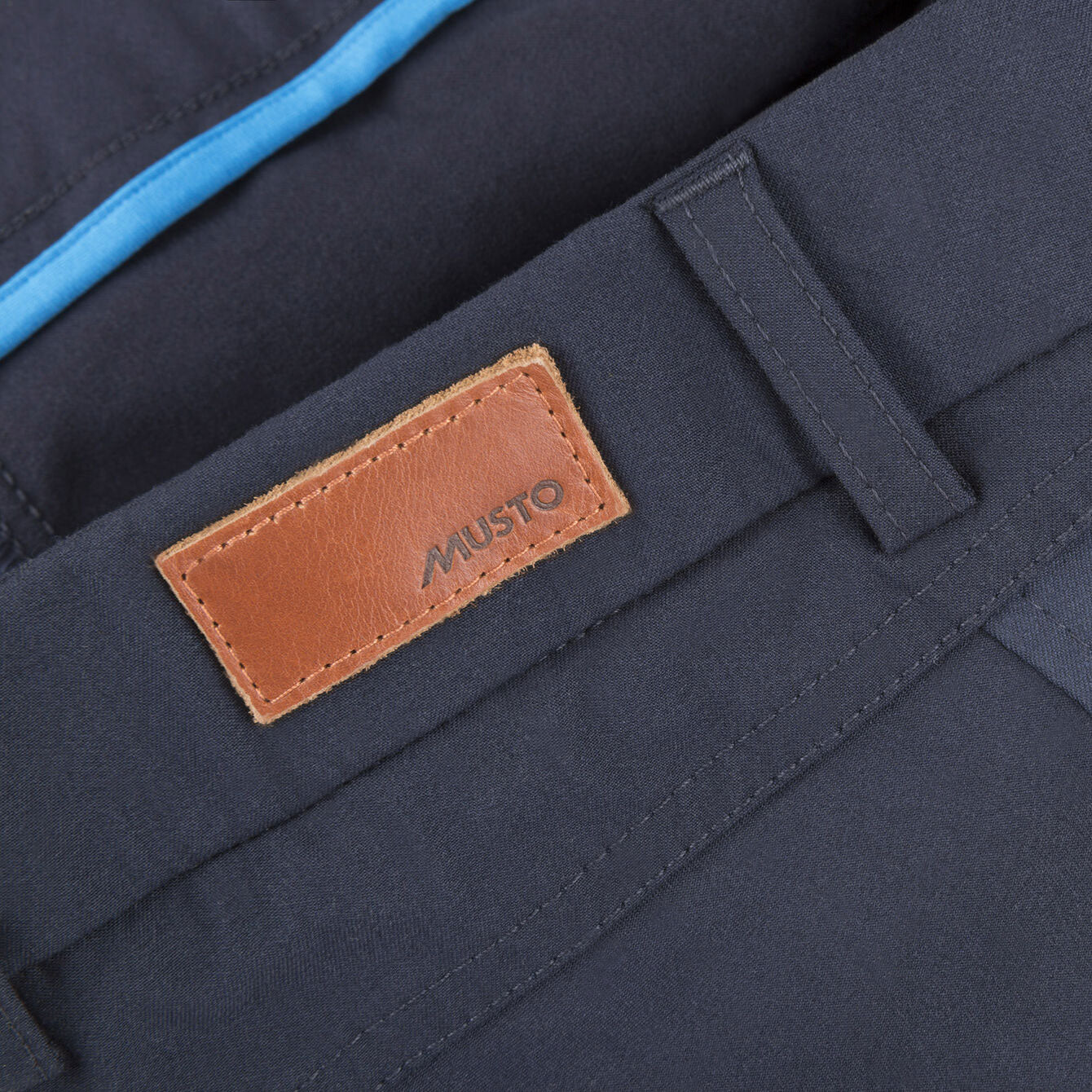 Leather tab musto logo