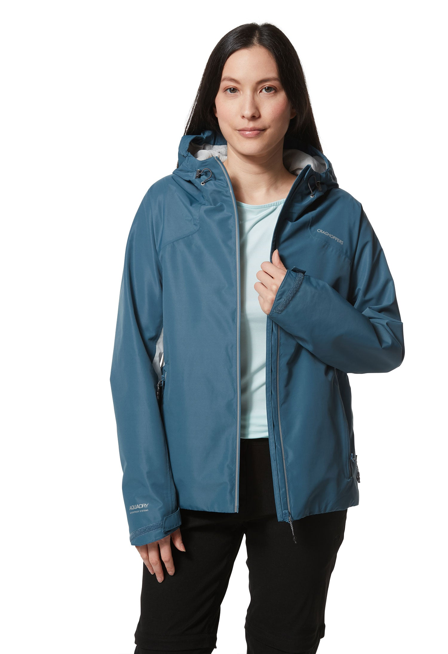 Coat unzipped Horizon Waterproof Women's Jacket by Craghoppers