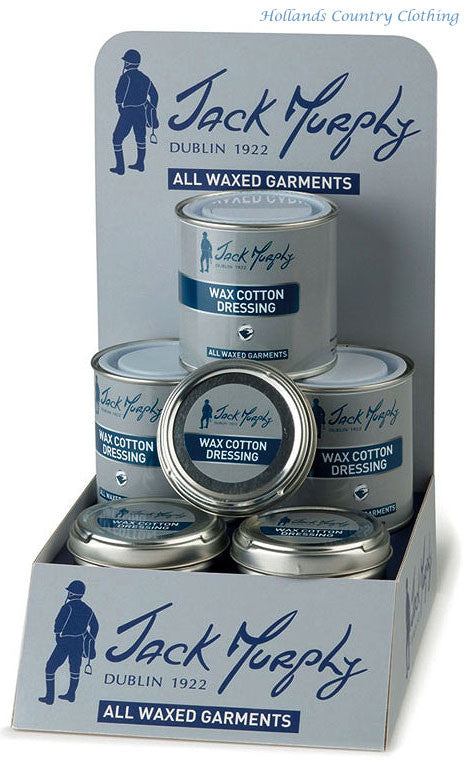 DISPLAY box for wax cotton dressing from Jack Murphy is the perfect solution for re-proofing and extending the life of your Jack Murphy wax garments