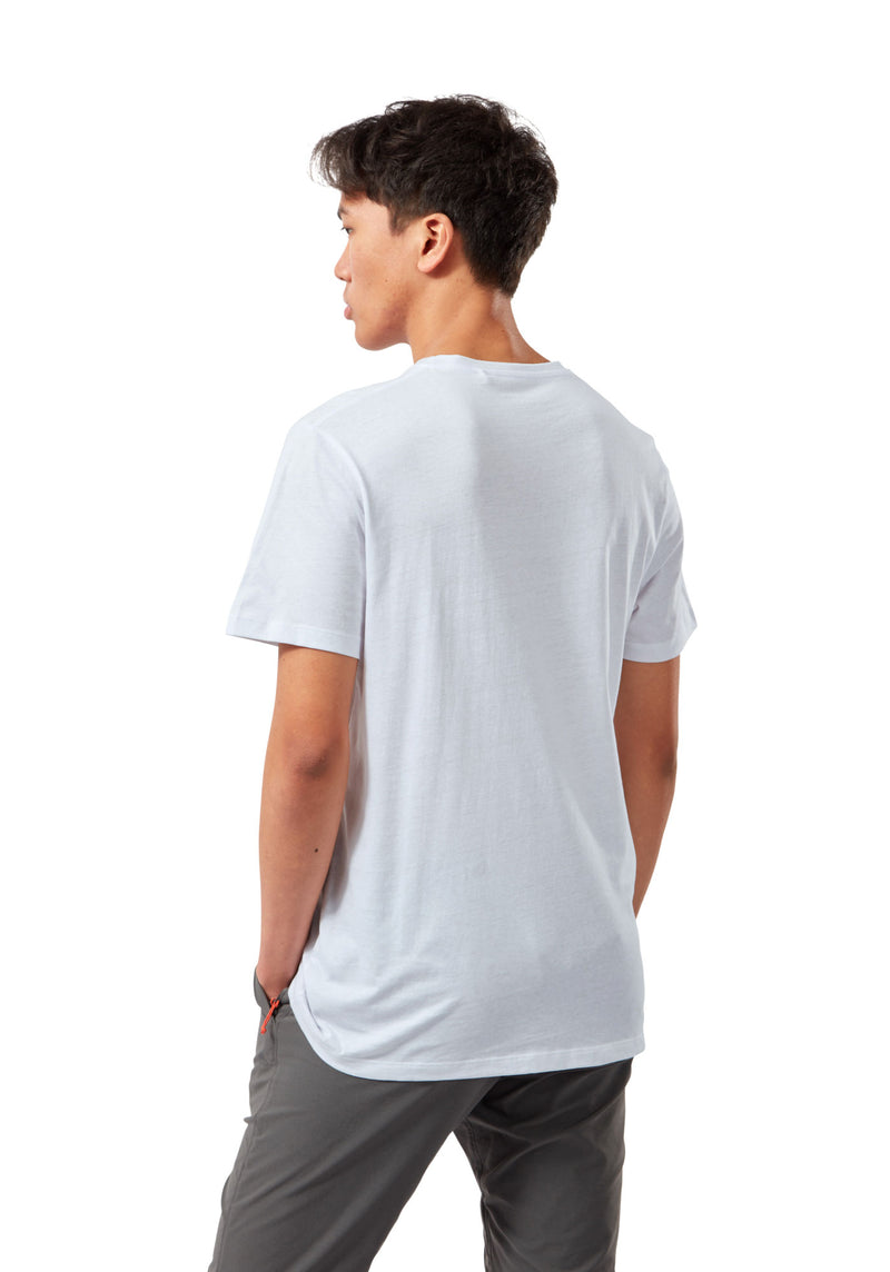 Back white Mightie Short Sleeve Cotton T-Shirt by Craghoppers