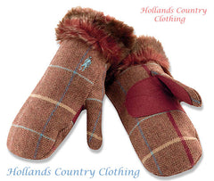 Athea MITTS Ladies Wicklow Tweed JACK MURPHY GLO 006