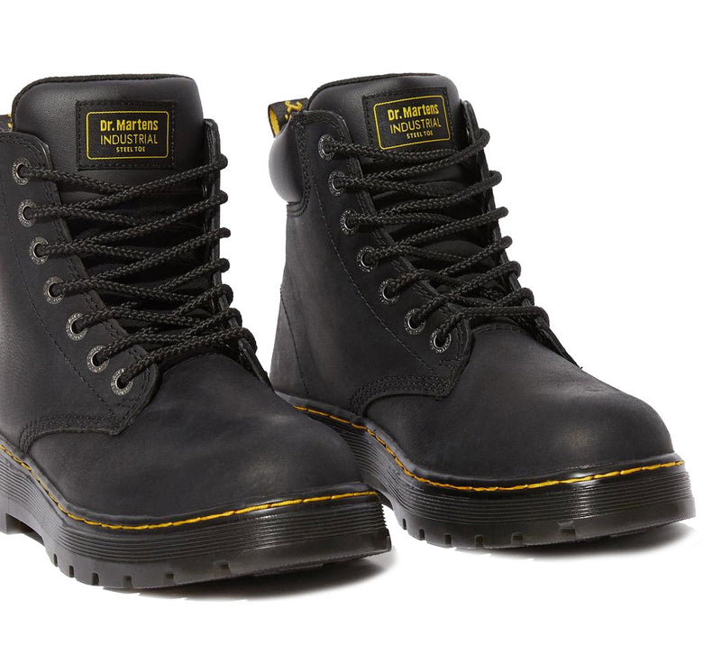 Black Dr Martens Winch Steel Toe Boots