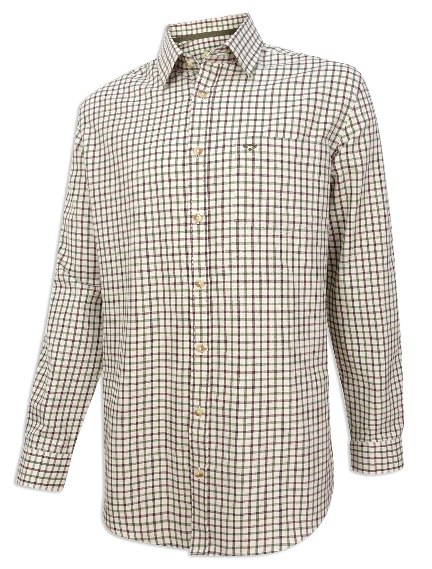 Green Wine Hoggs of Fife Falkland Twill Shirt