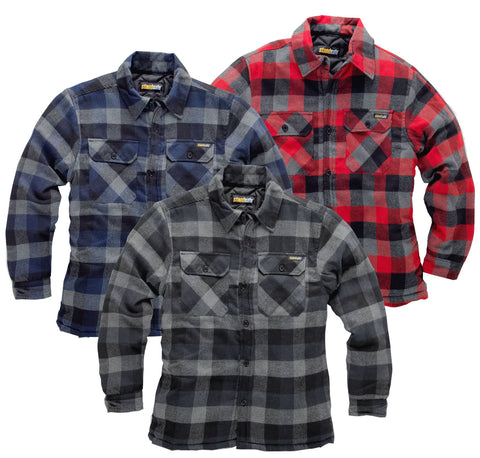 Brecon Padded Lumberjack Shirt by Standsafe warm lined