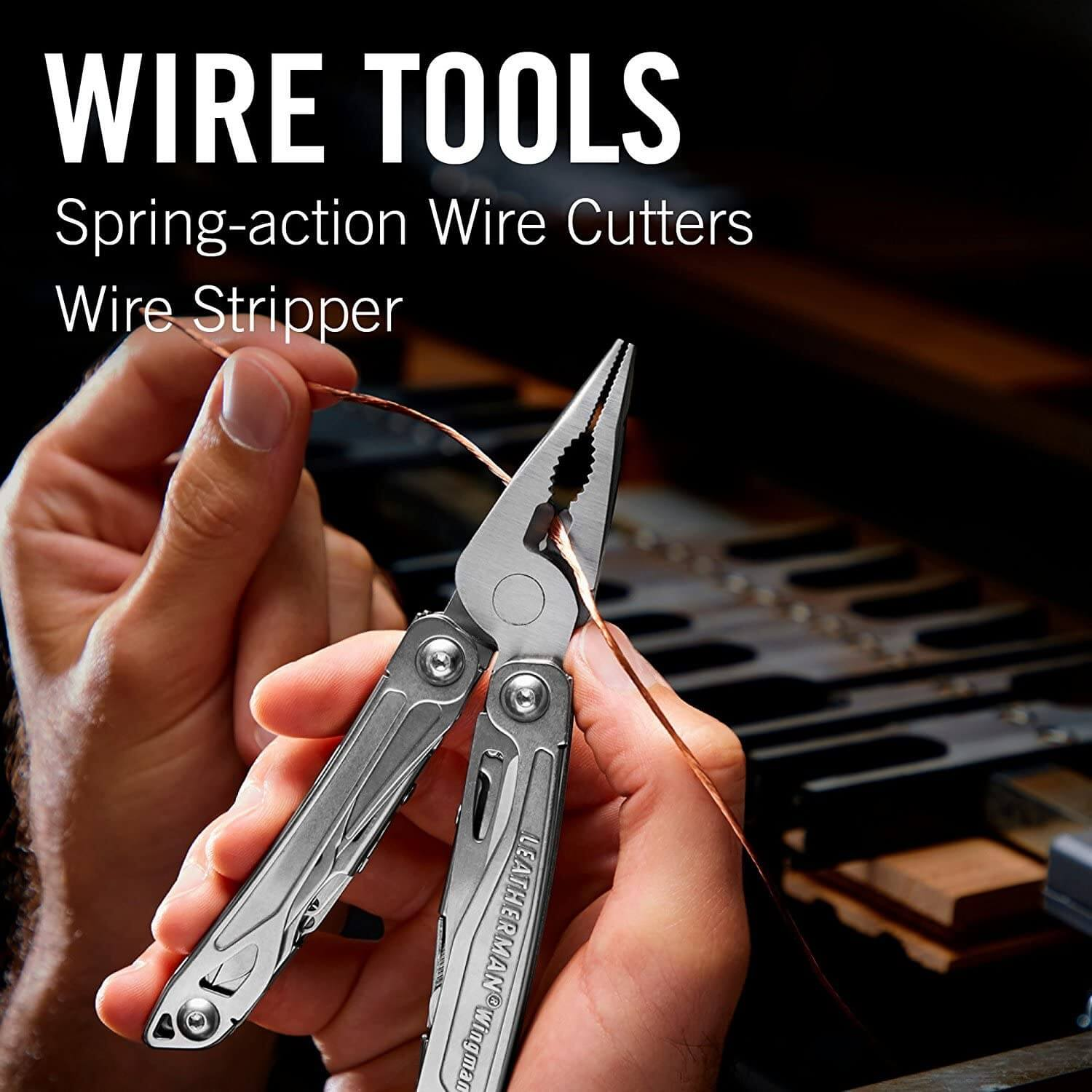Wire tools, spring action wire cutters