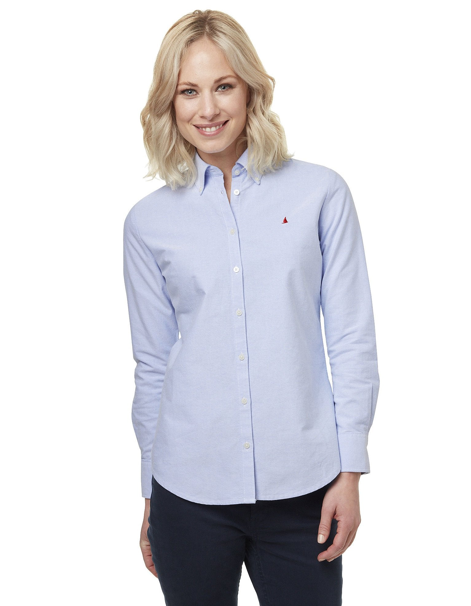 Woman wearing Oxford Cotton Shirt by Musto