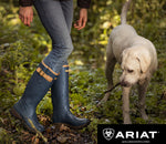 Navy country wellingtons