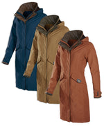 Chelsea 3/4 Length Waterproof Breathable Coat by Baleno in three colours