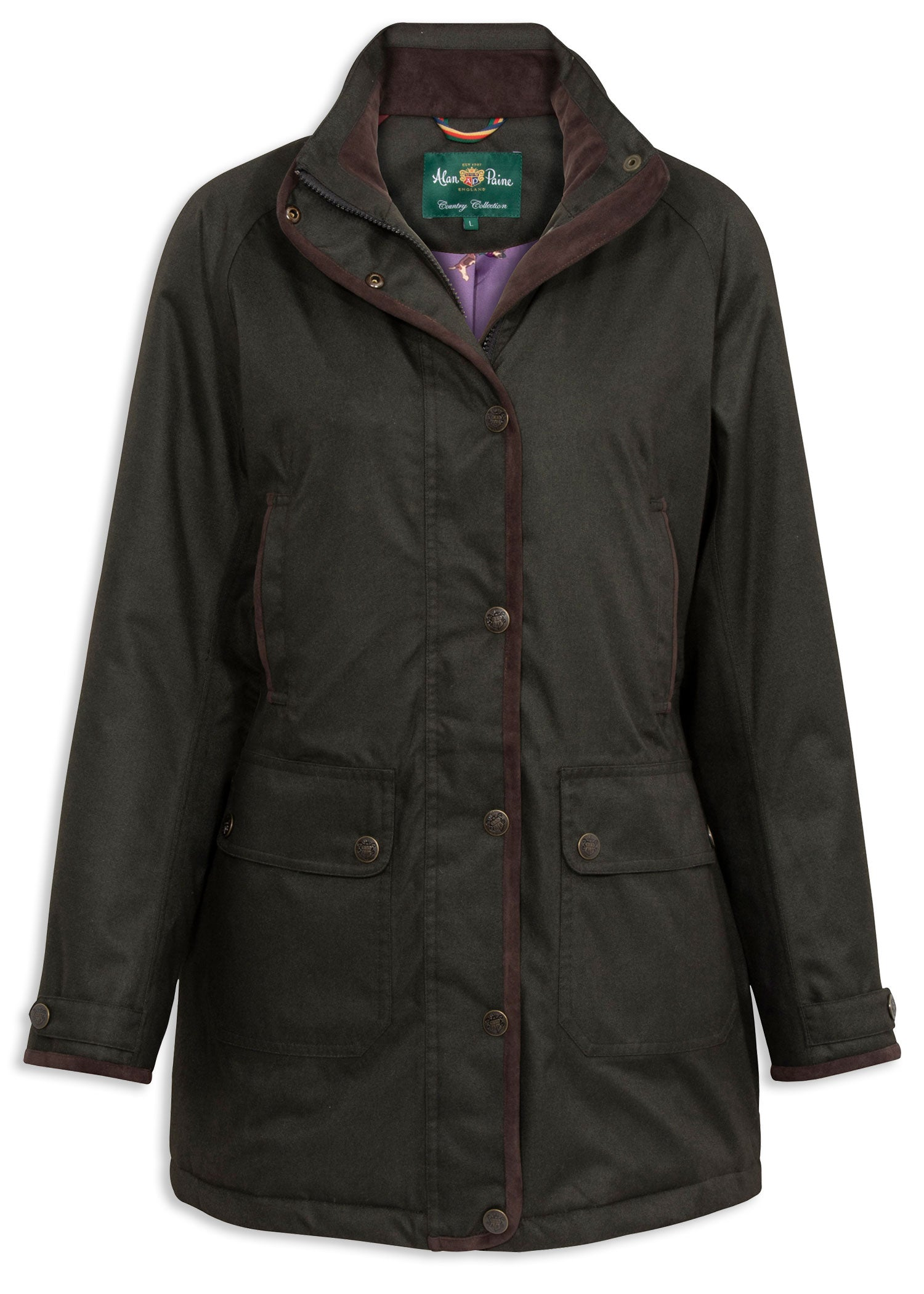 Woodland Green Alan Paine Fernley Ladies Weekend Coat