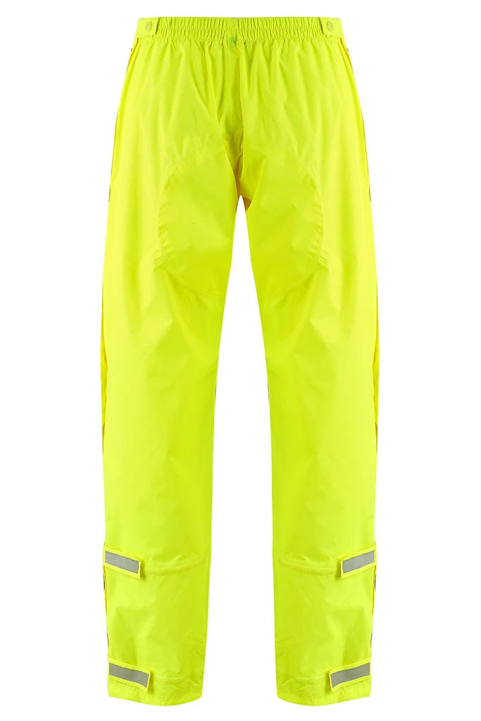 Neon Yellow Waterproof and Breathable Full Zip Trousers by Lighthouse