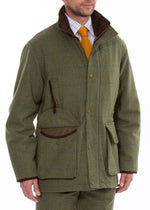 Front to side Combrook Men's Tweed Shooting Field Coat by Alan Paine
